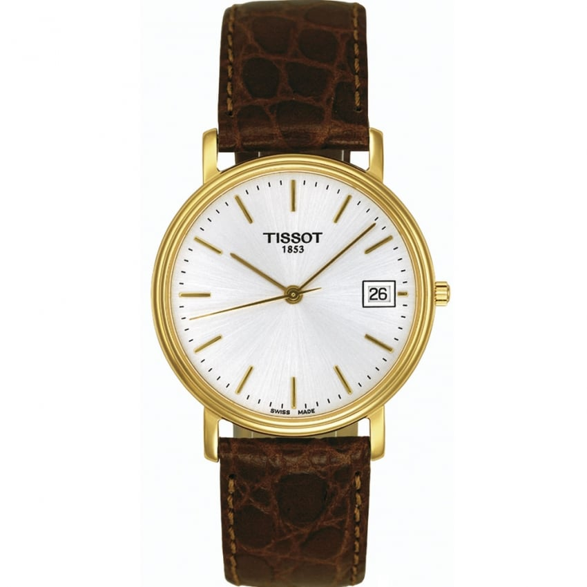 Tissot Men's Gold Plated Desire Gent Quartz Strap Watch T52.5.411.31