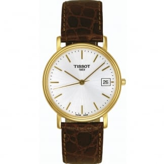 Men's Gold Plated Desire Gent Quartz Strap Watch