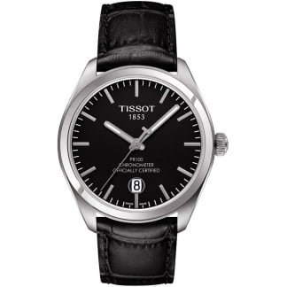 Men's PR 100 Certified Chronometer Black Strap Watch