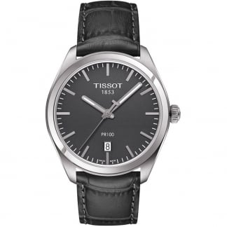 Men's PR 100 Grey Leather Quartz Watch
