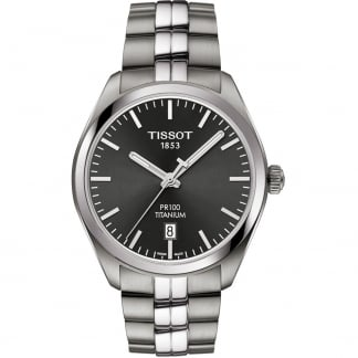 Men's PR 100 Titanium Charcoal Dial Watch