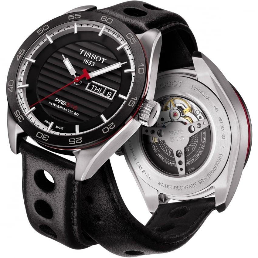 Tissot Men's PRS 516 Automatic Day/Date Black Strap Watch T100.430.16.051.00