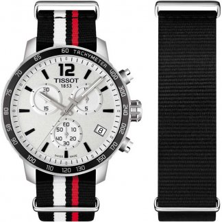 Men's Quickster Chronograph Nato Strap Watch T095.417.17.037.01