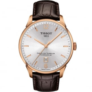 Men's Rose Gold Automatic Chemin Des Tourelles Strap Watch T099.407.36.037.00