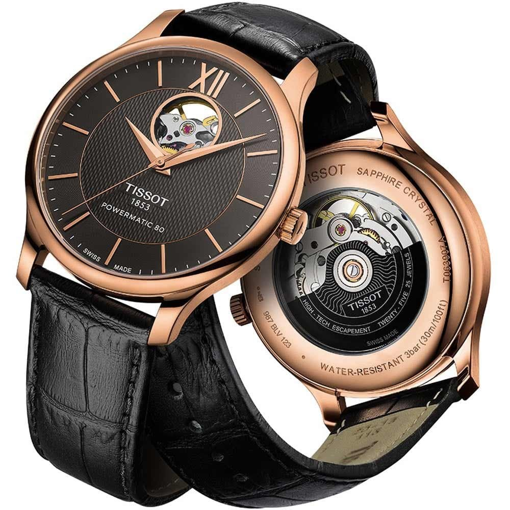 9c43c9b87 Tissot Men's Tradition Powermatic 80 Open Heart Watch - Watches from ...