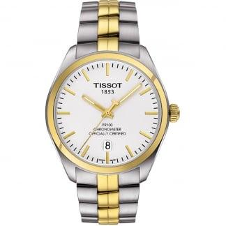 Men's Two Tone PR 100 Quartz COSC Watch T101.451.22.031.00