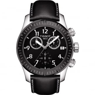 Men's V8 Black PVD Bezel Quartz Chronograph Watch T039.417.26.057.00