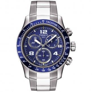 Men's V8 Blue Dial Chronograph Bracelet Watch T039.417.11.047.02