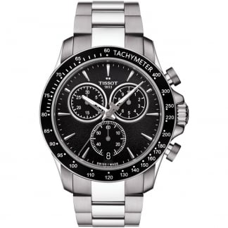 Men's V8 Chronograph Black Dial Bracelet Watch