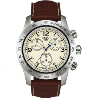Men's V8 Quartz Chronograph Brown Strap Watch T36.1.316.72