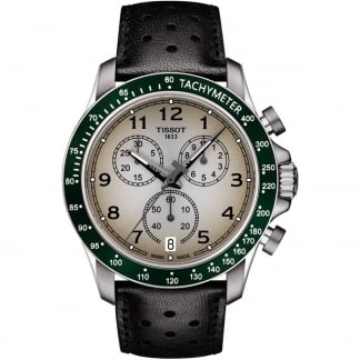 Men's V8 Quartz Chronograph Watch With Green Bezel