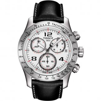 Men's V8 White Dial Chronograph Watch