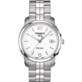 Men's White Dial PR 100 Stainless Steel Watch T049.410.11.017.00