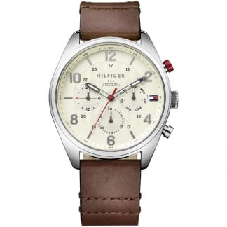 Gent's Corbin Brown Leather Chronograph Watch 1791208