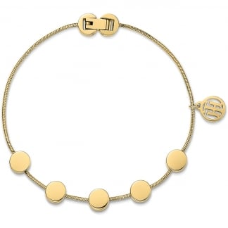 Gold Multi Coin Bracelet