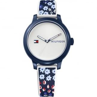Ladies Ashley Floral Strap Watch
