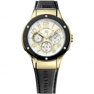 Ladies Black Rubber Ainsley Multifunction Watch 1781313