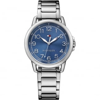 Ladies Blue Dial Silver Tone Casey Watch 1781655