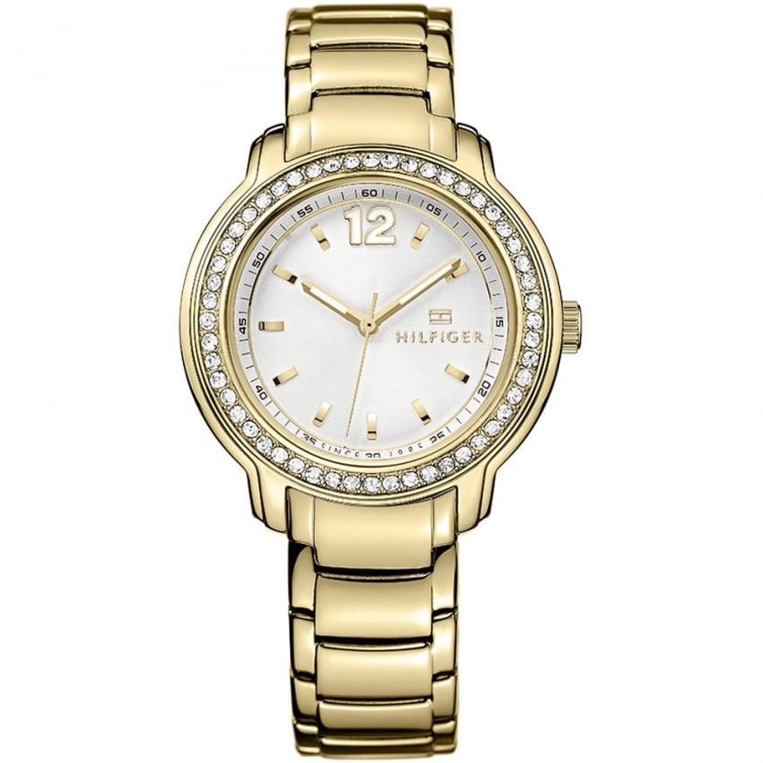 Tommy Hilfiger Ladies Callie Gold Tone Stone Set Watch 1781467