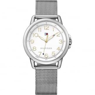 Ladies Casey White Dial Mesh Bracelet Watch 1781658