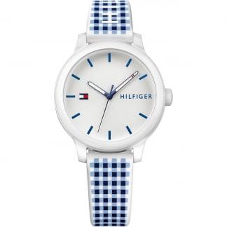 Ladies Check Silicone Strap Ashley Watch 1781777