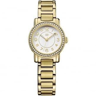 Ladies Crystal Set Gold PVD Rose Watch 1781477