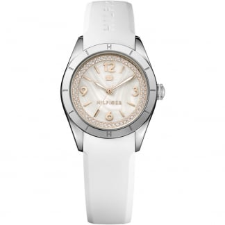 Ladies Hadley Mother of Pearl White Strap Watch 1781549