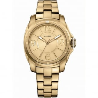 Ladies Kelsey Gold Plated Bracelet Watch