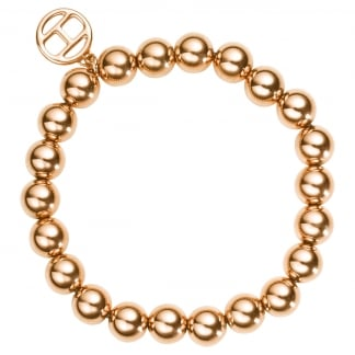 Ladies Large Rose Gold Ball Bracelet