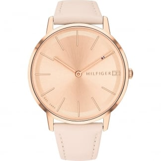 Ladies Pink Leather Rose Gold Pippa Watch