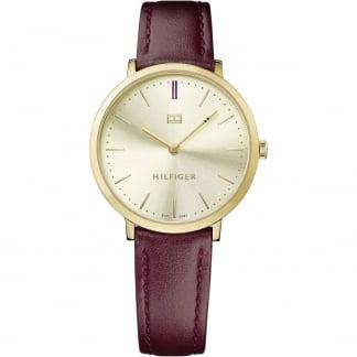 Ladies Pippa Gold PVD Ultra Slim Strap Watch 1781692