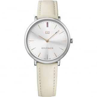 Ladies Pippa Ultra Slim White Strap Watch 1781691