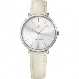 Ladies Pippa Ultra Slim White Strap Watch 1781691