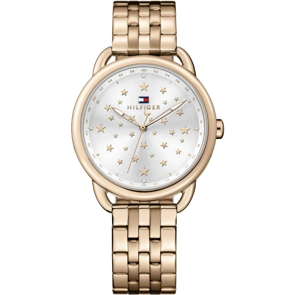 tommy hilfiger ladies rose gold lucy watch with starry. Black Bedroom Furniture Sets. Home Design Ideas