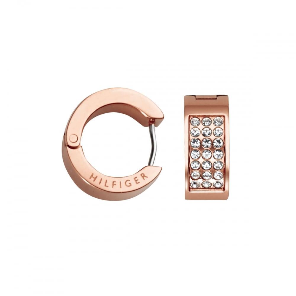 c656c049d Tommy Hilfiger Ladies Rose Gold Stone Set Huggie Earrings Product Code:  2700573