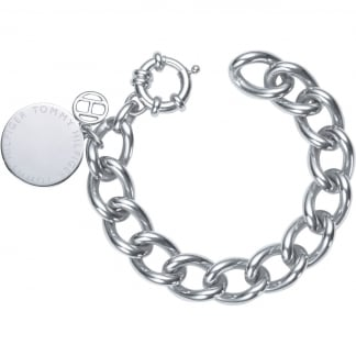 Ladies Stainless Steel Disc Bracelet