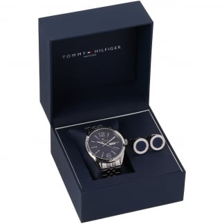 Men's Bracelet Watch & Cufflink Set
