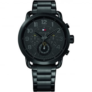 Men's Briggs Black Steel Multifunction Watch