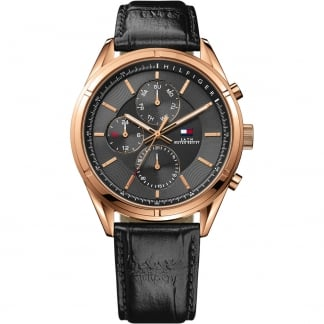Men's Charlie Rose PVD Multifunction Strap Watch
