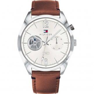 2e9a3230 Tommy Hilfiger Men's Blue Strap Multifunction Decker Watch - Watches ...