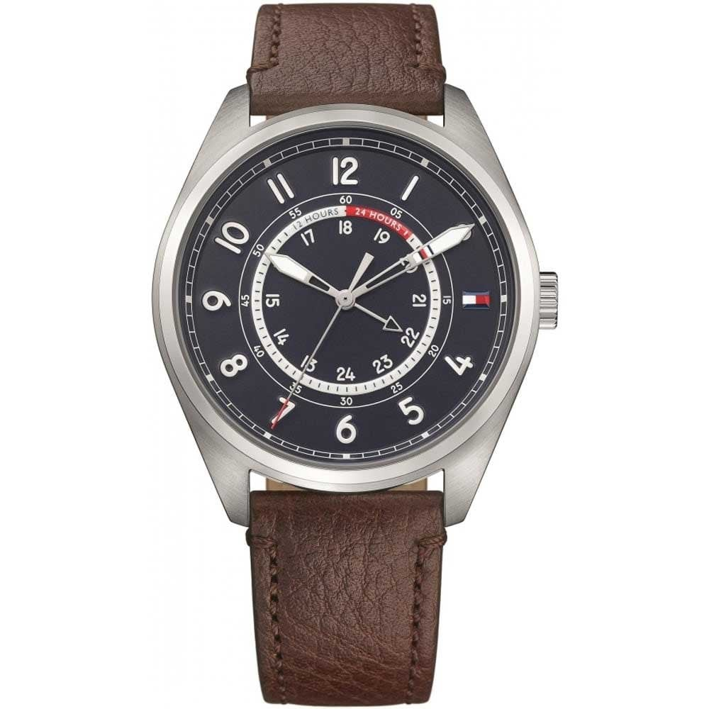 949be3c2 Tommy Hilfiger Men's Dylan Brown Leather Strap Watch Product Code: 1791371