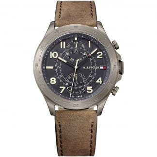 Men's Grey Dial Multifunction Watch