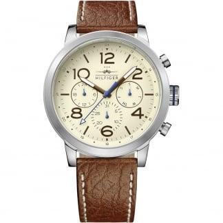 Men's Jake Multifunction Brown Leather Watch 1791230