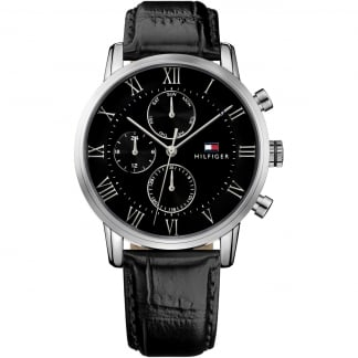 Men's Kane Black Strap Multifunction Watch