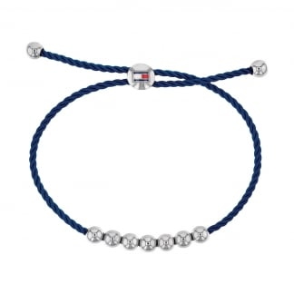 Navy Beaded Friendship Bracelet