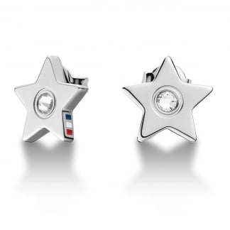 Stone Set Star Earrings