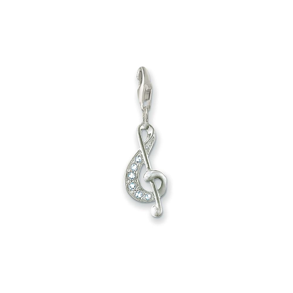 Thomas Sabo Charm pendant musical clef white 0386-051-14 Thomas Sabo A3yDIEhr