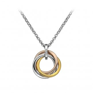 Trio Pendant - Rose and Yellow Gold Plated Accents DP544