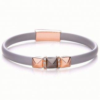 Triple Pyramid Silicone Riviera Bracelet BBT028