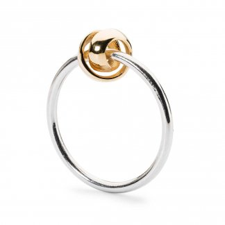 Silver & Yellow Gold Neverending Ring TAGRI-0029
